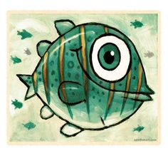 Big fish with a big smile. Fish Artwork, Big Fish, Smile, Green, Painting, Painting Art, Paintings, Painted Canvas, Drawings