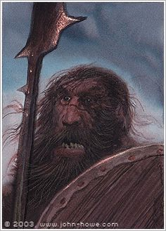 John Howe :: Illustrator Portfolio :: Home / From Hobbiton to Mordor / Cards and Such / Dunlendings Tolkien Books, Jrr Tolkien, Fictional Languages, John Howe, Fantasy Setting, High Fantasy, Middle Earth, Lord Of The Rings, Lotr
