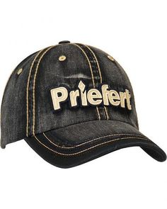 Priefert Faded Black Denim Casual Cap Black Denim 53c538c56e3b
