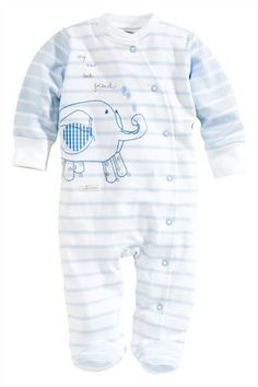 Buy Stripe Animal Sleepsuit (0-12mths) from the Next UK online shop