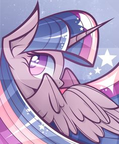 Twilight Sparkle-Cullen's favorite pony.  He's a Bronie :)