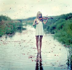 I've been wanting to get a violin for awhile now. I remember playing one awhile back, and I really liked the feeling~