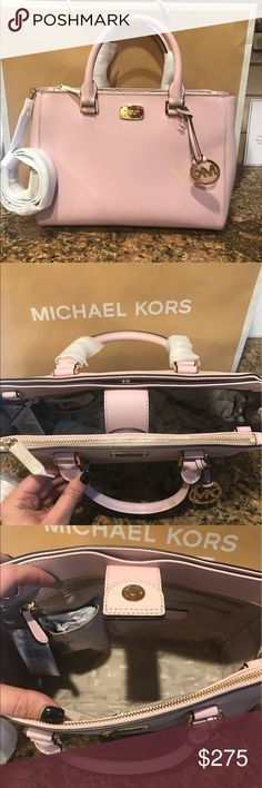 ♈️$235!! Michael Kors Kellen Blossom🌸🌸🌸 Gorgeous light pink!! Obsessed with this bag! Detachable cross body strap. Front zip pocket and back pocket with magnet snap as well as center compartment with more pockets!! Large size bag! Michael Kors Bags Crossbody Bags