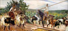 """""""Andalucía: El encierro"""" (1914). Nueva York, The Hispanic Society of America. Obra de Joaquín Sorolla"""