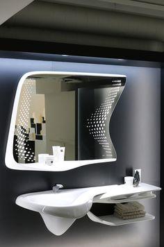Sink Design, Küchen Design, House Design, Zaha Hadid Design, Bathroom Furniture, Bathroom Interior, Modern Bathroom, Zaha Hadid Interior, Zaha Hadid Architecture