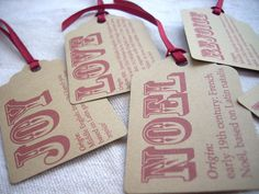 Christmas Gift Tags FREE SHPPING - Hand crafted