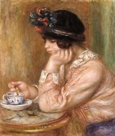 Cup of Chocolate, 1877 ~ Pierre-Auguste Renoir ~ (French: 1841-1919)