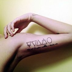 The Fifth Element - Triangular Tattoos That Beautifully Portray The Four Elements - Photos