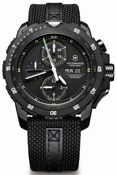 ccaf867443f Victorinox Swiss Army Alpnach Black Ice Chronograph Watch Relógios Caros