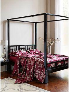 Leaves raspberry silk king duvet cover 240x220cm