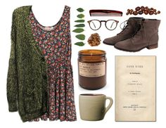"""Chasing A Ghost"" by throwmeadream ❤ liked on Polyvore featuring BRONTE, Toast, Steve Madden, Mason Pearson, Oliver Peoples, casual, floral, nature, slouchy and janeeyre"