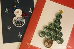 Quilling – Cartões de Natal