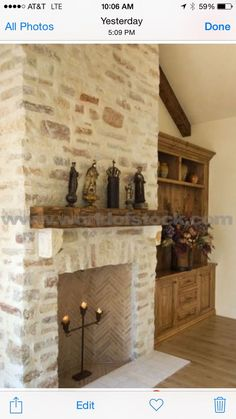 Image Result For Stone Fireplace Makeover
