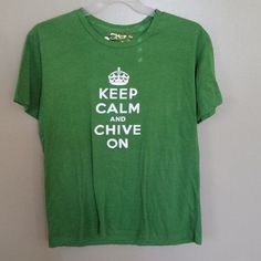 KEEP CALM AND CHIVE ON BY CHIVE TEES T SHIRT SIZE XL ADULT