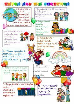 23 Mejores Imágenes De Derechos Del Niño Spanish Kids Y Spanish Class