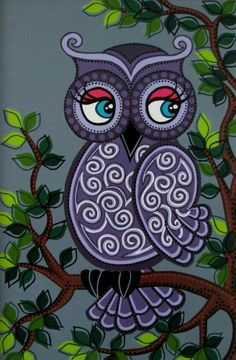 One More Owl for Elis Madhubani Paintings Peacock, Madhubani Art, Indian Art Paintings, Cute Owls Wallpaper, Flower Wallpaper, Art Drawings Sketches, Cute Drawings, Whatsapp Wallpaper, Owl Pictures