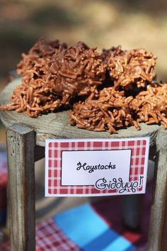 chocolate noodles are great to call 'haystacks'