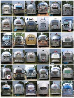 Chrome alert on these vintage airstream RVs / trailers. Their classic look will never die.