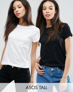 ASOS TALL The Ultimate Crew Neck T-Shirt 2 Pack Save 15%