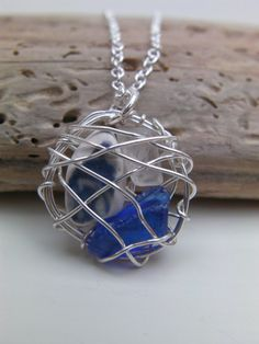 Unique Wire Wrapped Scottish Seaglass and by cunningcatcrafts, £8.00