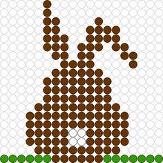 Kralenplank Haas Pearler Bead Patterns, Perler Patterns, Pearler Beads, Easter Crafts For Kids, Diy For Kids, Perler Bead Templates, Iron Beads, Melting Beads, Beaded Animals