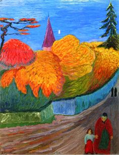 Church in St Prex, 1914, Marianne von Werefkin, (Russia 1860--Switzerland 1938)