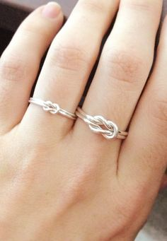 Sailor knot ring. Love the big one and little. Mom daughter rings perhaps!