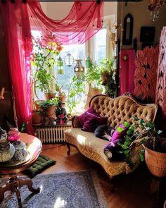 Bohemian Latest And Stylish Home decor Design And Life Style Ideas Bohemian Interior, Bohemian Decor, Bohemian Living, Living Room Decor, Bedroom Decor, Indie Room, Aesthetic Room Decor, Home And Deco, My New Room