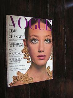 Vintage 1968 Vogue Magazine Marisa Berenson  Cover Fashion Glamour by VintageBlackCatz on Etsy