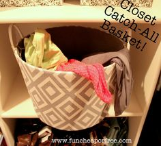 Toss your clothes/belts/etc in a basket instead of on the floor when changing in a hurry. When the basket is full, empty it! Keeps your closet floor clean...+ tons of other clever organization solutions to make your life MUCH easier! #organize #funcheaporfree