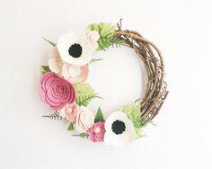 Kranz  Kränze  Blumen Kranz  Twig Kranz  von alisonmichel auf Etsy