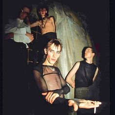 Bauhaus visiting Italy for summer gigs in 80s Goth, Punk Goth, New Wave Music, Music Love, Music Pics, The Sisters Of Mercy, Bauhaus Band, Love And Rockets, Goth Bands