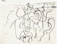 Pablo Picasso (1926) Christ en Croix. Picasso Drawing, Pablo Picasso, Moose Art, Drawings, Christ, Animals, Life, Animales, Animaux