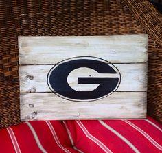 Georgia Bulldog Mini Pallet Sign on Etsy, $25.00... Could make in Georgia Tech
