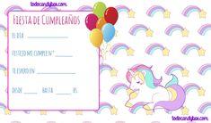 Candy Bar de Unicornios para Descargar e Imprimir Gratis | Todo Candy Bar Unicorn Birthday Parties, Birthday Party Invitations, Bullet Journal, Diy, Google, Ticket Invitation, Party, Ideas, Paper