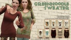 Sims 3 Download: simsinspring »: Greennoodle Sweater