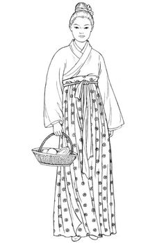 Song dynasty female commoner's everyday clothing. Mystery of History Volume 2, Lesson 49 #MOHII49