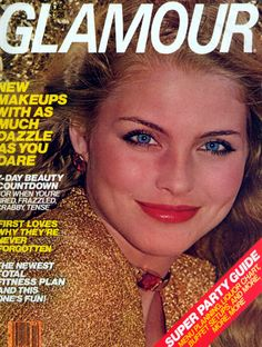 Kim Alexis covers Glamour Magazine (US) December 1978