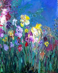 """Irises"" by Monet"