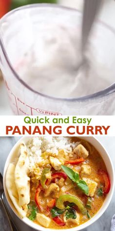 Let me just say that this Panang Curry recipe could be my ultimate favorite kind of curry! Its bursting with rich and creamy flavor from the curry paste and coconut milk and is made hearty with chicken veggies and fresh basil. Healthy Food Recipes, Indian Food Recipes, Asian Recipes, Soup Recipes, Cooking Recipes, Indian Chicken Recipes, Indian Foods, Oven Recipes, Turkish Recipes