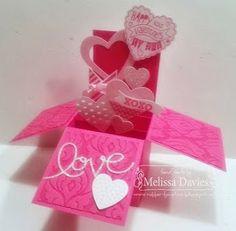 Valentine Explosion Card in a Box by Melissa Davies @ rubberfunatics