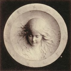 Lewis Carroll [Charles Lutwidge Dodgson]  Marble Medallion Portrait of Agnes Gladstone by Alexander Munro  Photographed in the summer of 1859  From Lewis Carroll, Photographer