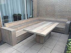 Deck Bench Seating, Corner Seating, Backyard Seating, Garden Seating, Outdoor Seating, Pallet Garden Furniture, Garden Sofa, Diy Outdoor Furniture, Deck Furniture