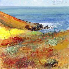 Autumn Valley, rush of the stream below by Kurt Jackson. British artist and environmentalist.