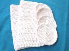 2 algodón ganchillo paños de cocina 4 piezas de paño por Vestberet