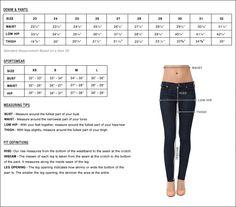 Premium Denim Mens Pants Size Chartdress Chart Womenfashion
