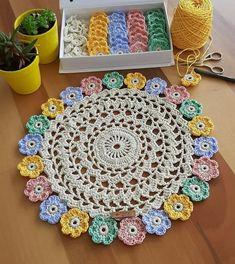Crochet Gloves Pattern, Crochet Motif, Crochet Designs, Crochet Doilies, Crochet Flowers, Crochet Patterns, Crochet Home, Love Crochet, Diy And Crafts