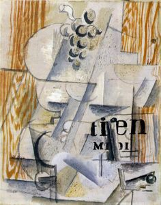 The Fruitdish by Georges Braque.  Cubism
