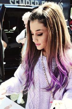 Ariana Grande # tie ans dye Purple