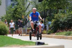 Although mobility scooters may be a godsend to the elderly, they don't provide much in the way of exercise. The Liberty Trike is designed to change that. Riders can use it in plain ol' throttle mode just like on a regular scooter, but they can also pedal if they want.